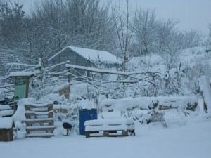 Winterlandschaft im Mienbacher Waldgarten