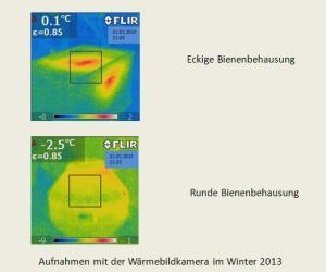Aufnahme mit der Wärmebildkamera