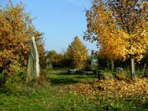 goldener Oktober Steinkreis