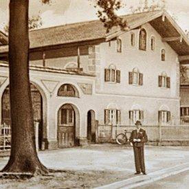 Historisches Bild von der Hauptstraße her